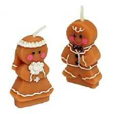 50 Gingerbread Bride and Groom Candle Wedding Bomboniere Favours
