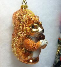 Woodland Squirrel w/ Pinecone Christmas Tree Ornament