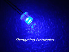 100PCS 3MM Flat top super bright Blue wide angle Led Diffused fog Blue light