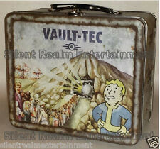 Fallout 4 Vault-Tec 111 Weathered Tin Tote Prop Replica Metal Lunchbox