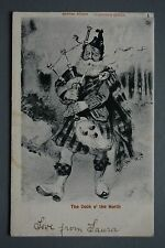 R&L Postcard: Comic, Valentine's Scottish Studies, Cock O the North, Bagpipes