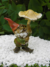 Miniature Dollhouse FAIRY GARDEN ~ Gnome with Mushroom Umbrella  ~ NEW
