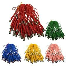 50 Tassels Lariat Mobile Phone Straps Lanyard Bag Charms Holder 70mm long