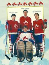 1986-87 Team Canada Vs Moscow Selects Exhibition Series Poster, Dec 13, London