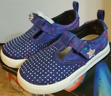 New Air Underground Girls Indigo Starshine Canvas Galaxy Shoes Size 5M