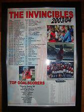 Arsenal Invincibles 2003-04 - framed print