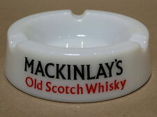 VINTAGE MACKINLAY'S OLD SCOTCH WHISKEY MILK GLASS ASHTRY
