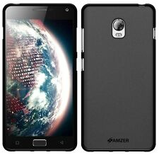 AMZER Exclusive Pudding Matte TPU Fitted Case Cover For Lenovo VIBE P1 - Black