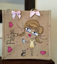 Personalised Jute Bag 32cm x 32cm