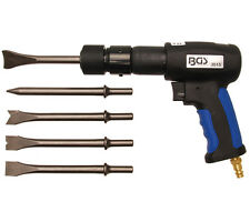 BGS Tools 7 Piece Air Hammer Kit For 10mm Round Chisel 3515