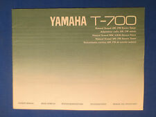 YAMAHA T-700 TUNER OWNER MANUAL ORIGINAL FACTORY ISSUE