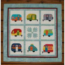 CAMPER PARTY QUILT QUILTING PATTERN, Paper Piecing From MH Designs NEW