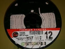 12 awg thhn/thwn-2 copper stranded wire 500ft white 600v