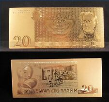 GERMANY DDR BANKNOTE 20 ZWANZIG MARK 1975 GOLD REPLICA