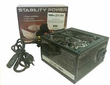 Black 750W Quad Blue LED Quiet 12cm Fan ATX Power Supply 24pin,8pin 12V,6/8 PCIE