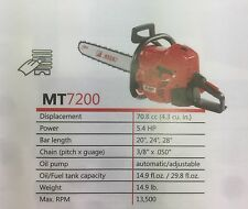 "efco MT7200-24 Chainsaw with 24"" bar (Professional)"