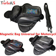 Magnetic Motorcycle Motorbike Fuel Tank Bag Black Universal Waterproof Backpack