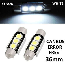 2x 36mm 3 SMD LED WHITE C5W NO ERROR Licence Number Plate Light Bulbs - PORSCHE