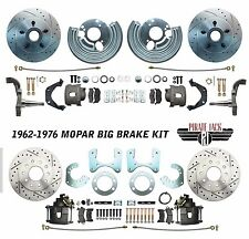 "Mopar 1962-72 B&E Body Front & Rear 12"" Rotor Disc Brake Conversion Kit Slotted"