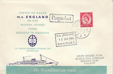 MARITIME :1964 ESBJERG-HARWICH-PAQUEBOT cachet -Engliah stamp-  special cover