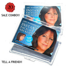 Instant Face and Neck Lift - COMBO - 2 KITS (DARK HAIR) Anti Wrinkle Facelift