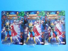NEW MARVEL AVENGERS FIGURINES 3 THOR LOT CAKE TOPPERS COMIC BIRTHDAY PARTY HERO