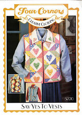 """UNCUT Four Corners Creative Clothing Sewing Pattern 5770 """"Say Yes To Vests"""" Quil"""