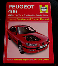 HAYNES CAR MANUAL ( PEUGEOT 406 - 1996 to 1997 - N to R reg - Petrol/ Diesel)!!!