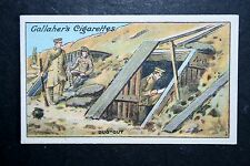 British Army Dug Out   Western Front    World War 1  Original  Vintage  Card