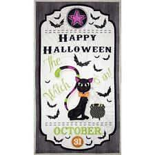 "Fabric Happy Halloween Scarry Cat Door Panel Cotton 24""x44"" S"