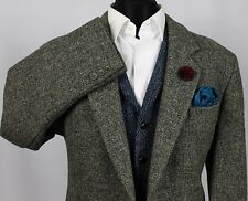 Mens Harris Tweed Blazer Jacket Wedding Country 42S EXCEPTIONAL GARMENT 370