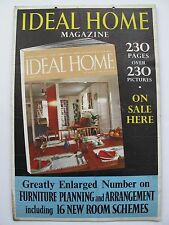 VINTAGE PROMOTIONAL ADVERTISING for IDEAL HOME MAGAZINE 1957