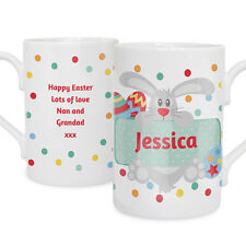 PERSONALISED EASTER BUNNY MUG Funky Unique Unusual Easter Gift Idea Present