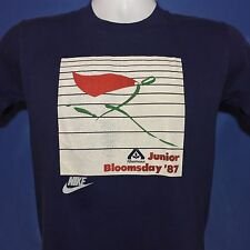 VTG 1987 Nike Junior Bloomsday T Shirt 1980s 80s Blue Tag Youth Rare *XS