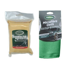 Triplewax Car Windscreen Synthetic Chamois Demister Pad + Microfibre Cloth Set