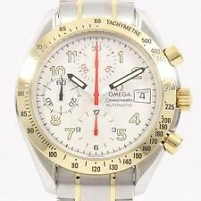 Authentic OMEGA REF. 3313 33 Speedmaster Date Gold & Steel SSxYG Automatic  #...