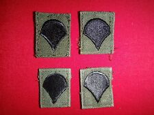Two Pairs Of US Army SPECIALIST Subdued Collar Patches