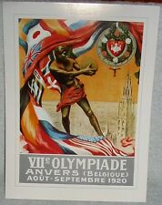 Antwerp Belgium 1920 Olympic Games Official Poster Reprint 12 x 16 Inches