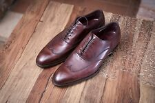 Cheaney Imperial Ox Blood Wingtip Shoes Size UK 10 Handmade In England RRP £475