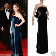 $9.400 NEW TOM FORD BLACK VELVET and LACE TIED BACK EVENING DRESS GOWN