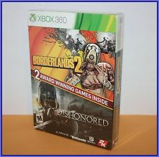 Borderlands 2 + Dishonored 2 Pack Bundle - XBOX 360 Games - BRAND NEW