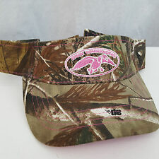 NWT Ladies Pink Duck Commander Real Tree AP Camo Adjustable Visor Cap (B)