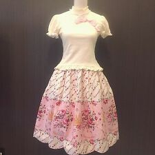 Metamorphose Skirt and Tops Set Crown rose pattern Lolita dress