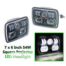 "2 pcs Universal 7"" x 6"" 54W Square High Low Beam CREE LED Projector Headlights"