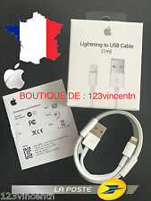 ORIGINAL CABLE CHARGEUR USB LIGHTNING IPHONE 6S/6/5/5S/5C/SE APPLE MD818ZM/A