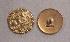 """Set of 6 JHB Intl Gold Round Metal Buttons Matte Funky 1-1/8"""" or 28 mm lyk0047"""