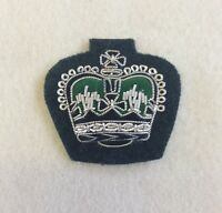 The Rifles, WO2 Crown Rank Badge, Mess Dress, Army, Green, Warrant Officer