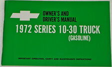 1972 Chevrolet pickup truck owners manual glove box