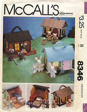 1980's VTG McCall's Miniature House,Furniture&Families Original Pattern 8346
