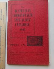 australian commonwealth specialists catalogue 1953